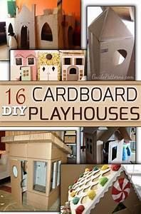 16 DIY Cardboard Playhouses Guide Patterns