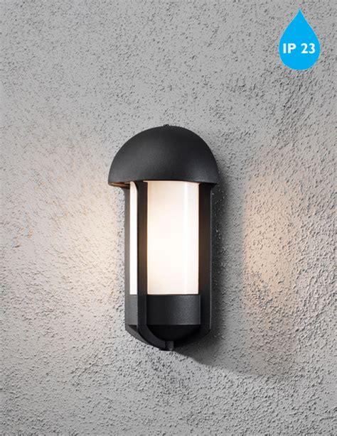 konstsmide tyr 1 light outdoor wall light black finish opal acrylic diffuser 510 752 from