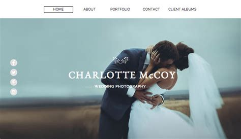 photography website templates wix