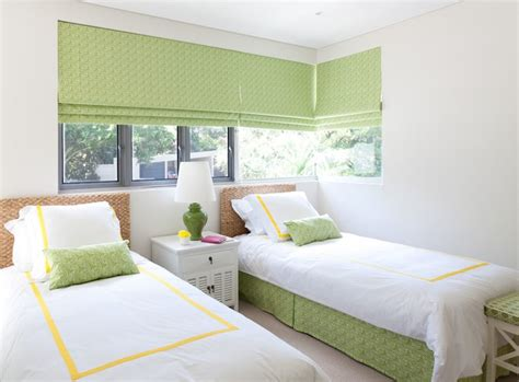 Green And Yellow Girls' Bedroom  Cottage  Girl's Room
