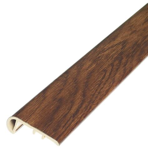 shaw flooring stair nose shaw tundra 1 8 in thick x 1 3 4 in wide x 94 in length vinyl stair nose molding hd90303634
