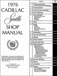 1976 Cadillac Seville Repair Shop Manual Original