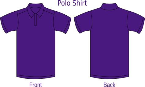 violet polo shirt clip art  clkercom vector clip art