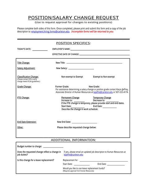 4 employee pay increase forms word pdf