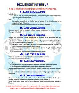 reglement interieur club de foot r 232 glement int 233 rieur club football chevigny sauveur football footeo