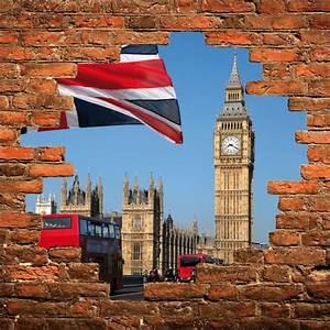 Trompe L Oeil Mur : sticker mural trompe l 39 oeil mur de pierre londres stickers autocollants ~ Dode.kayakingforconservation.com Idées de Décoration