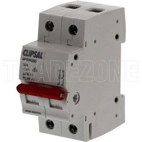 Clipsal Amp Pole Isolator Main Switch Psw