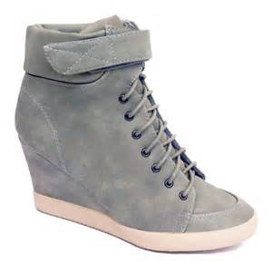 womens grey boots uk womens pebble grey lace up ankle wedge trainer boots size uk 3 9