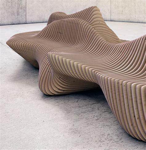 murena bench  behance architecture wooden furniture