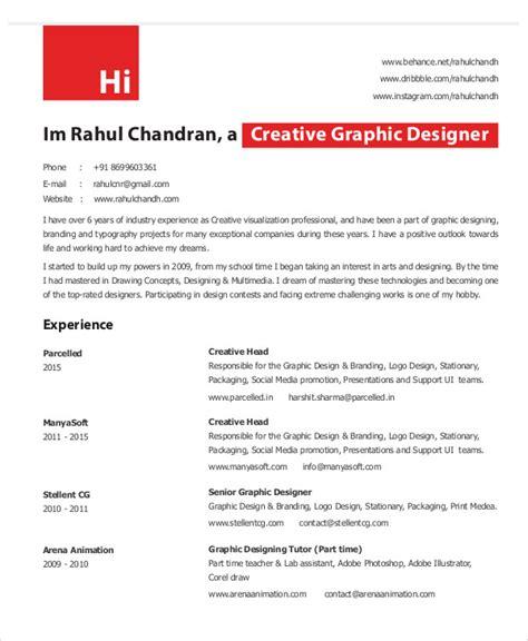 graphic designer resume template 11 free word pdf