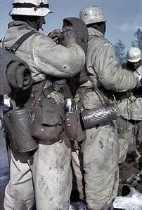 In WWII movies, Germans soldiers are often shown in well ...