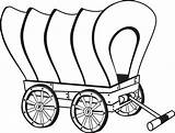 Wagon Pioneer Drawing Chuck Coloring Wheel Covered Pages Template Clipartmag Sketch Preschool sketch template