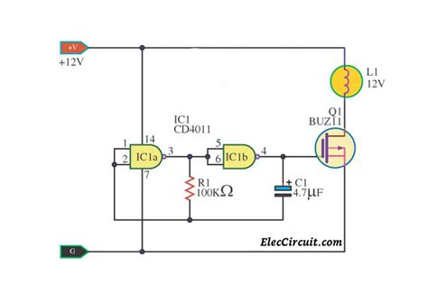 Simple Led Flasher Circuit Eleccircuit
