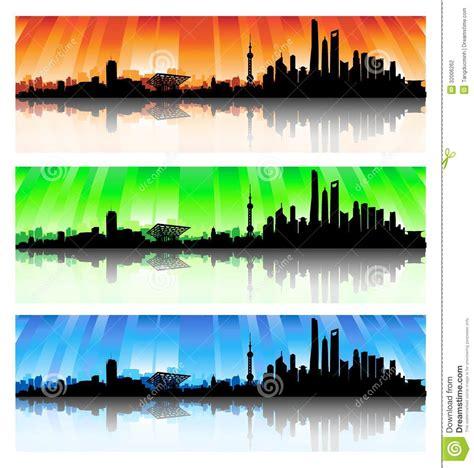 green silhouette eco city flat vector stock vector image shanghai city skyline silhouette set vector Beautiful