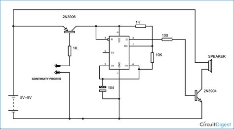 Continuity Tester Circuit Diagram Using Timer