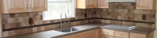 Tile Borders For Kitchen Backsplash Kitchen Tile Backsplash With Stick Glass Border New Jersey Custom Tile