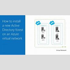 How To Install A New Active Directory Forest On An Azure Virtual Network  Microsoft Azure