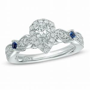vera wang love collection 5 8 ct tw pear shaped diamond With vera wang wedding rings love collection