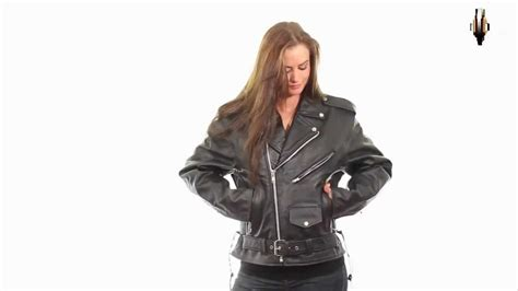 Xelement B 7005 Women's Classic Motorcycle Leather Jacket