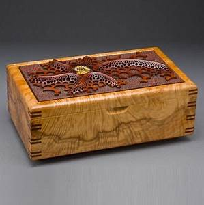 Hand Made Wood Jewelry Box QuotAmmonitequot By Mark Doolittle
