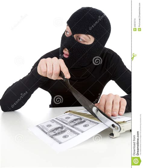 Illegal Manufactory Of Money Stock Images