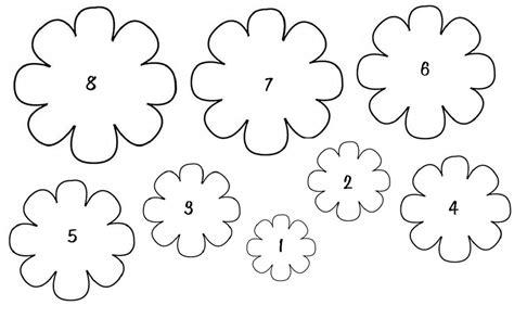 Flower Template Printable Flower Template Printable For Flower Loving Printable