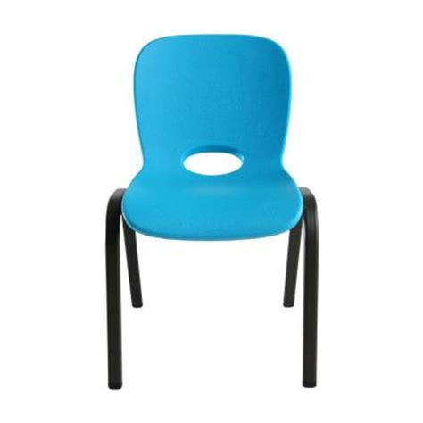 lifetime kids table and chairs lifetime kids almond table and blue stacking chairs combo