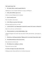 scarlet letter quiz scarlet letter test answers the scarlet letter test 1 32953
