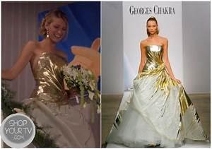 gossip girl season 6 episode 10 serena39s gold wedding dress With serena van der woodsen wedding dress