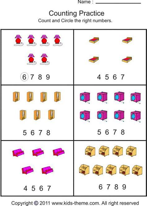 counting to 10 worksheets for kindergarten kindergarten
