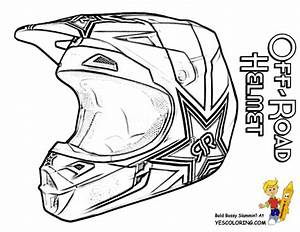 coloriage casque de moto cross dessin gratuit a imprimer With honda 400 dirt bike