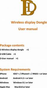Ice King Technology X7 Tv Dongle User Manual
