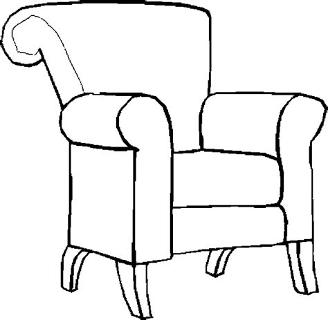 Stoel Kleurplaat by Chair Coloring Page Getcoloringpages