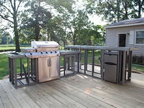 Metal Kitchen Backsplash Ideas - outdoor kitchen plans outdoor fireplace and kitchen plans youtube