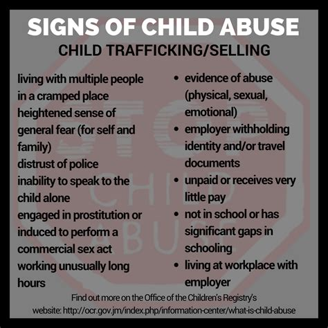 infographic signs of child abuse digjamaica 526 | ChildAbuseTrafficking