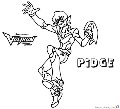 voltron coloring pages pidge  printable coloring pages