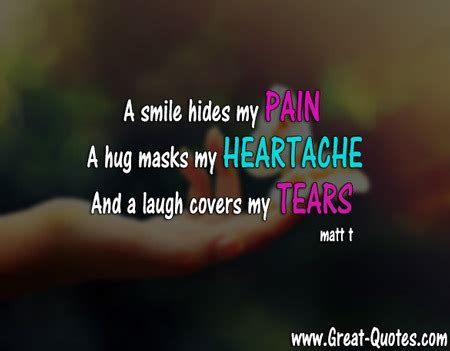 I Smile To Hide My Pain Quotes
