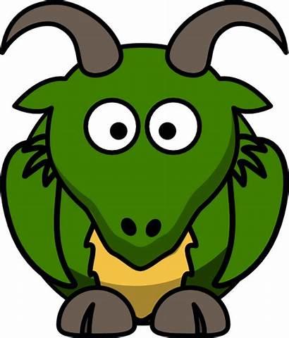 Clipart Dragon Goat Cartoon Animal Clip Pixabay