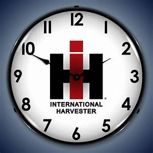 Lighted IH Clock