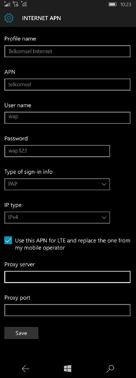 Cara setting 4g lte 3g internet mms telkomsel di android andromax lg g5 g4 samsung galaxy s10 a70 a8 note tab fijtsu htc hp mi xiaomi redmi coolpad sony xperia. Telkomsel Microsoft Lumia 435 Internet APN Pengaturan ...