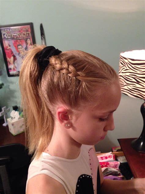 gymnastics hairstyle dutch braid hairstyles gymnastics