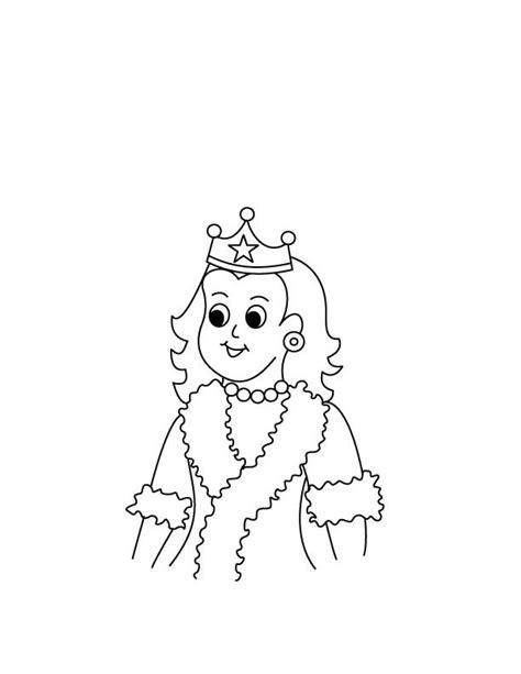 desenho de menina rainha  colorir tudodesenhos