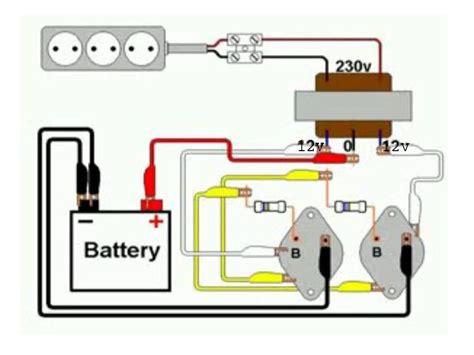 rangkaian sederhana inverter 12v dc 220v ac basing basing aja