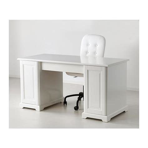 Create a custom desk for your office or a custom computer desk for your study. IKEA LIATORP Desk in White With Upgraded Hardware & Custom ...