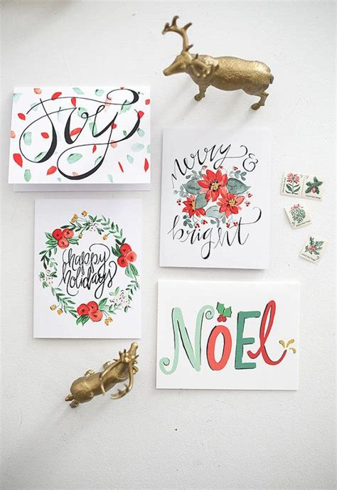 hand painted christmas cards festival collections