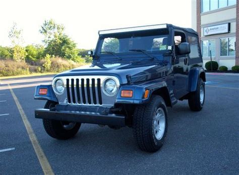 lj jeep for sale find used 2005 jeep wrangler unlimited lj 4 0l 6 speed