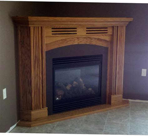 Corner Fireplace Mantels - corner mantel with gas fireplace yelp