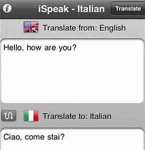 learn italian with ispeak italian iphone apps finder With english to italian document translation