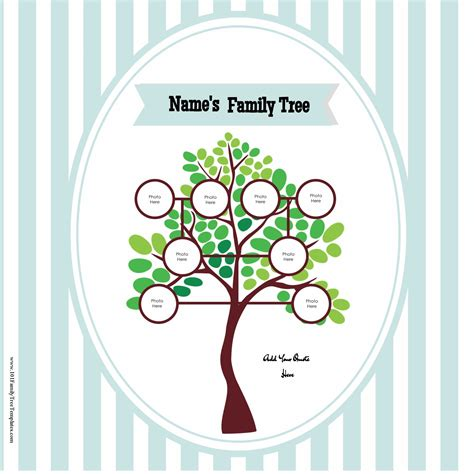 Family Tree Templates With Siblings by Free Family Tree Poster Customize Then Print At Home