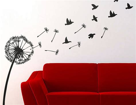 dandelion  birds wall sticker contemporary wall stickers